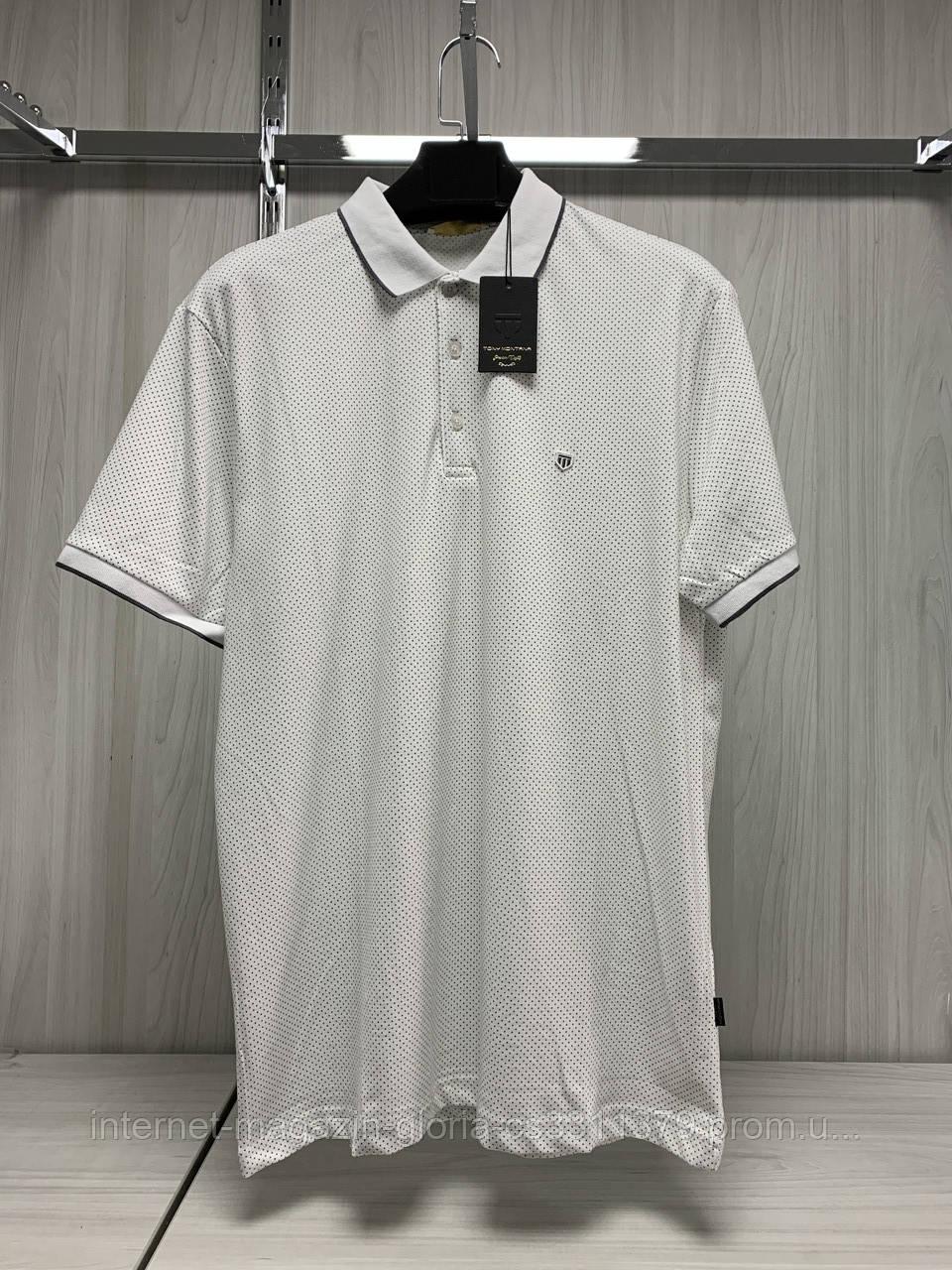 Мужская футболка поло Tony Montana. PL-3231(beyaz fumel). Размеры: M,L,XL,XXL.