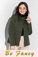 Утепленная куртка в стиле милитари