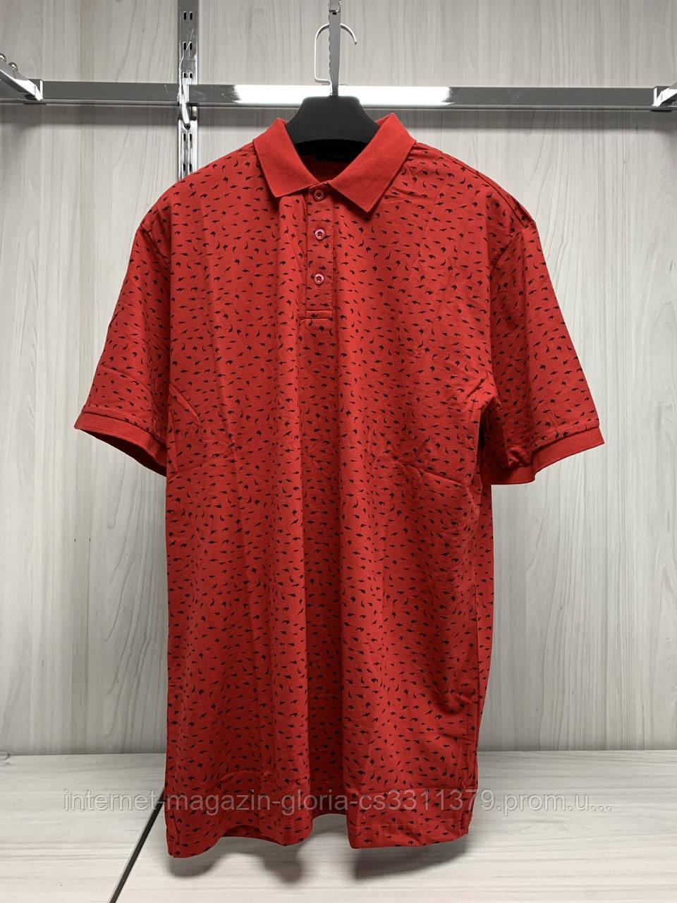 Мужская футболка поло Tony Montana. PL-3257(kirmizi). Размеры: M,L,XL,XXL.