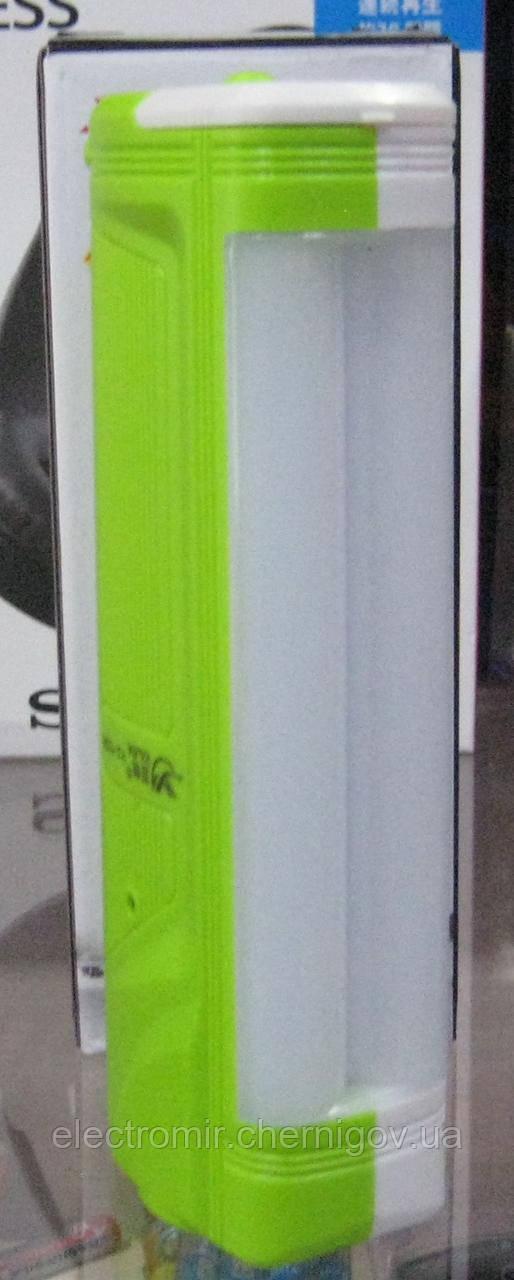 Фонарь аварийный аккумуляторный с боковой панелью и вилкой Yajia YJ-1036 (зелёный)