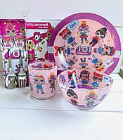 Детская посуда лол 5 предметов LoL
