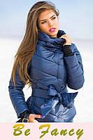 Теплая куртка с поясом