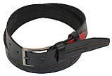 Кожаный ремень Skipper 110-130 x 3.8 см Черный (1024-38), фото 2