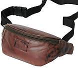 Поясная сумка из кожи Always Wild Коричневый (907-TT brown), фото 2