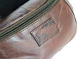 Поясная сумка из кожи Always Wild Коричневый (907-TT brown), фото 6