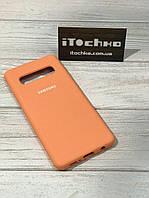 Чехол Silicone case для Samsung Galaxy S10 Nectarine
