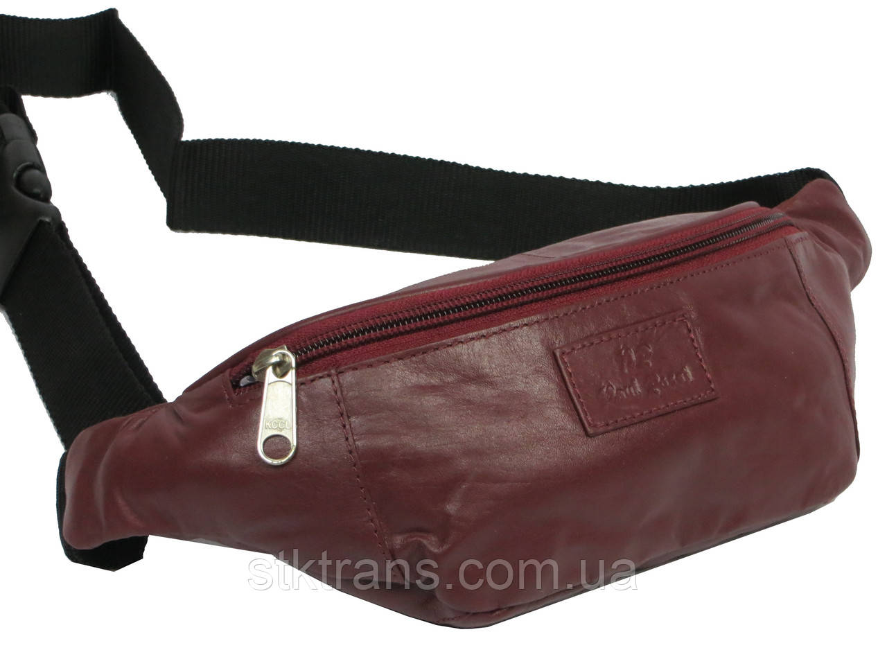 Поясная сумка из кожи Paul Rossi Бордовый (907-N brown)