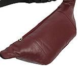 Поясная сумка из кожи Paul Rossi Бордовый (907-N brown), фото 4