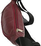 Поясная сумка из кожи Paul Rossi Бордовый (907-N brown), фото 5