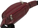 Поясная сумка из кожи Paul Rossi Бордовый (907-N brown), фото 6