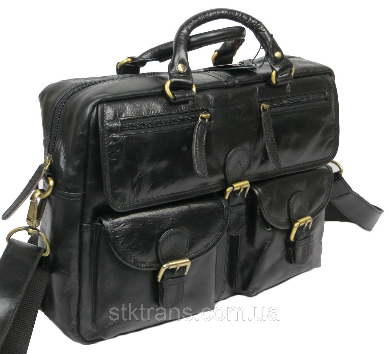 Мужская кожаная сумка-портфель Always Wild Черный (CP 146-CBH-58878)