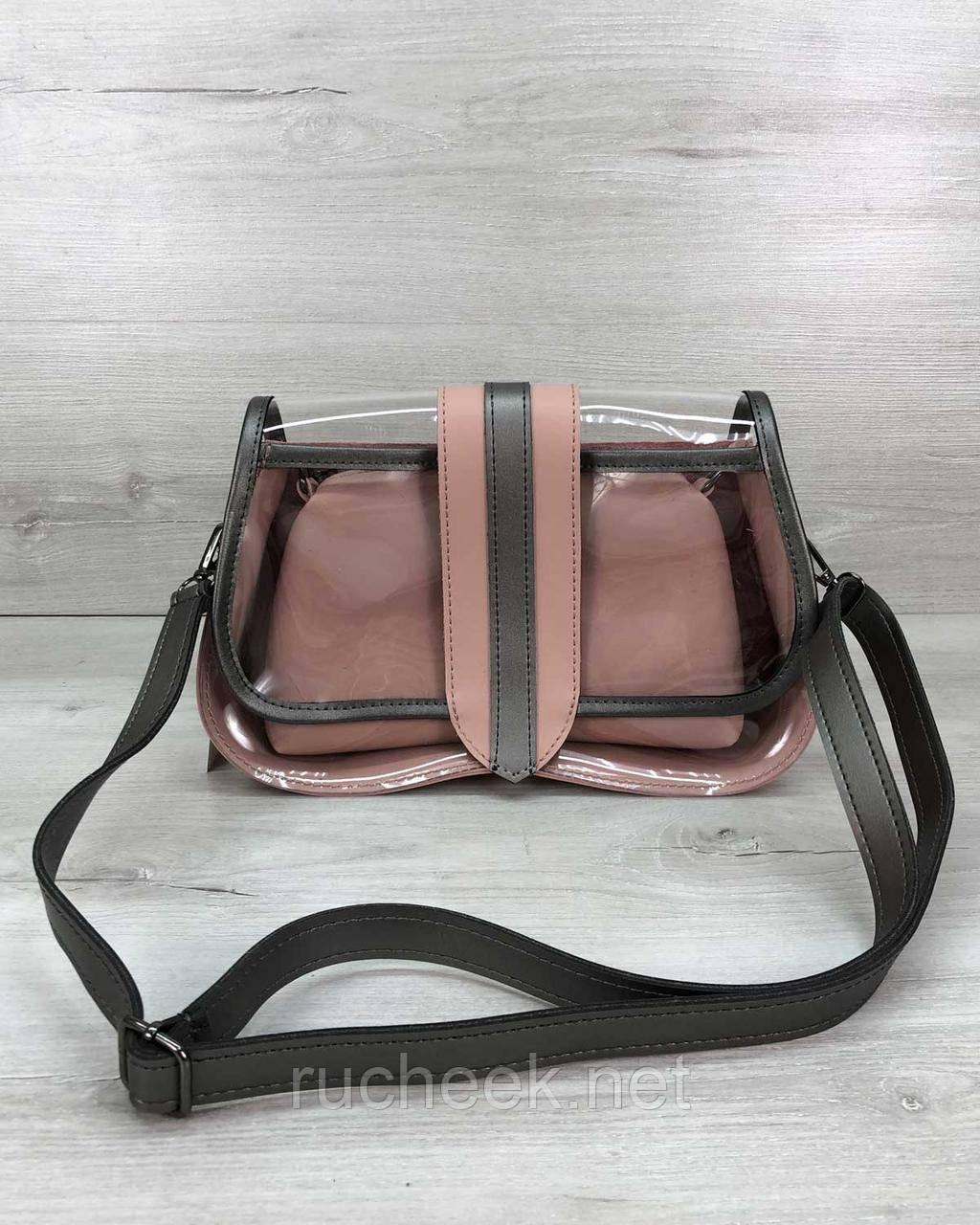 2в1 Женская сумка Miranda пудра
