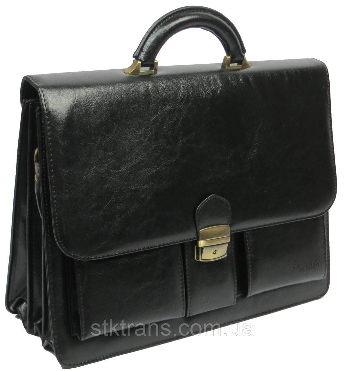 Мужской портфель 4U Cavaldi Черный (10-EX black)
