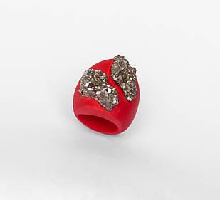 Женское кольцо PLAXA с пиритами 17.5 размер (PL1003)