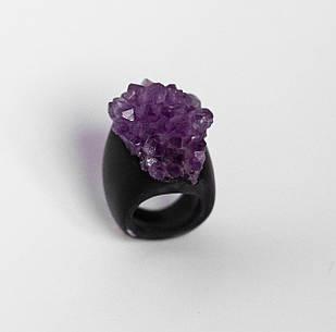 Женское кольцо PLAXA c аметистом 18 размер (PL1005)