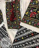 Українська жіноча вишита сорочка на довгий рукав із багатою вишивкою на довгих рукавах «Пейзажна», фото 2