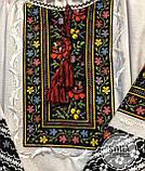 Українська жіноча вишита сорочка на довгий рукав із багатою вишивкою на довгих рукавах «Пейзажна», фото 4