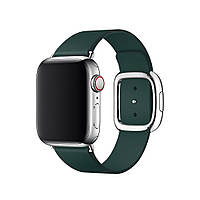 Ремешок DK Leather Modern Buckle Магнитный замок для Apple Watch 38 / 40 mm (dark green)