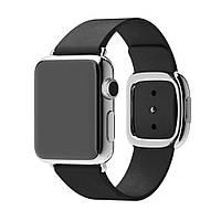 Ремешок DK Leather Modern Buckle Магнитный замок для Apple Watch 42 / 44 mm (black)