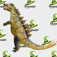 Надувной костюм Динозавр коричневый