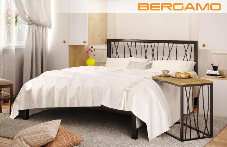 Кровать металлическая Бергамо Bergamo фабрика Метакам, фото 2