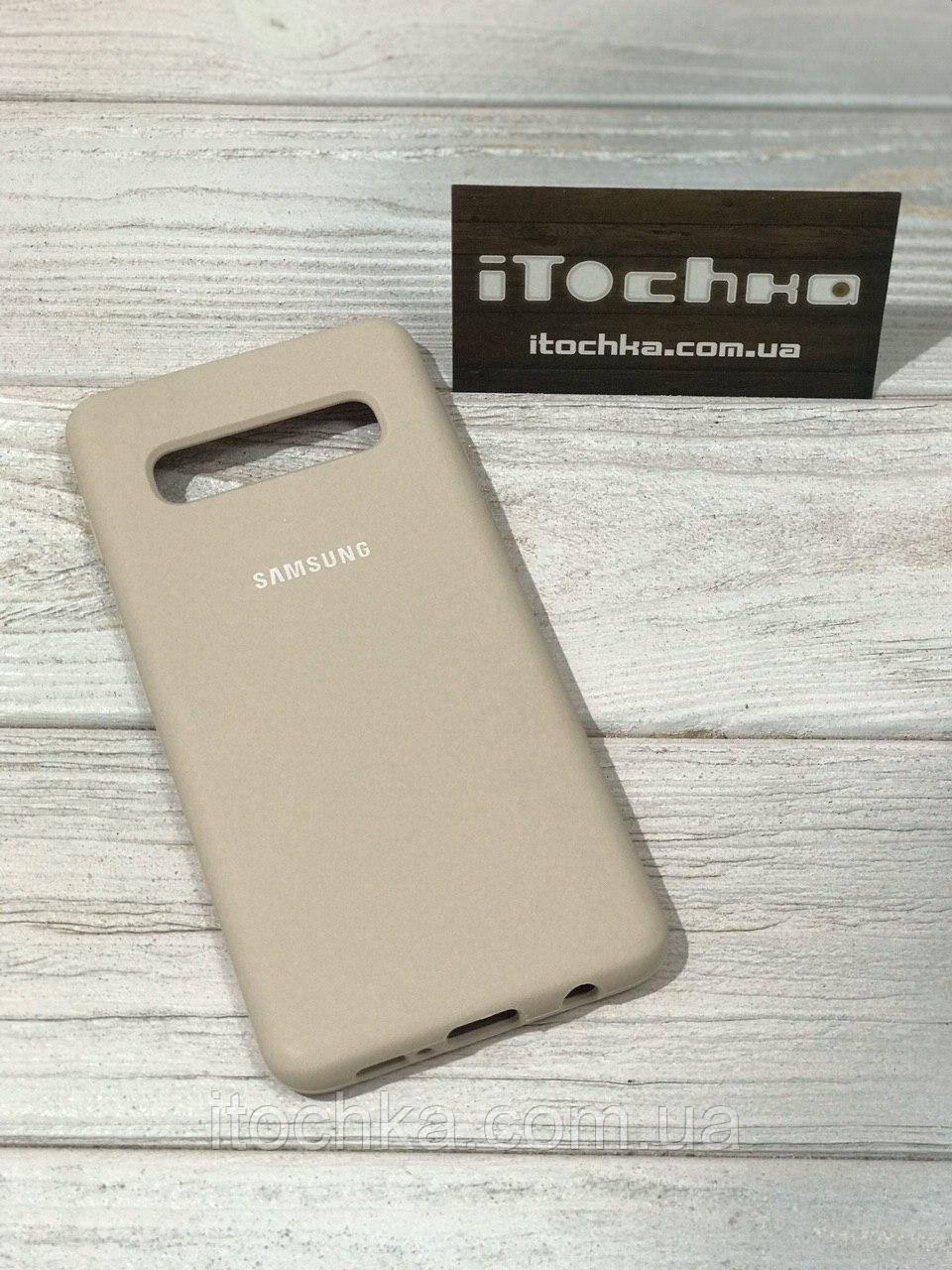 Чохол Silicone case для Samsung Galaxy S10 Nude