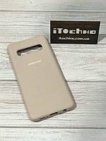 Чехол Silicone case для Samsung Galaxy S10 Nude