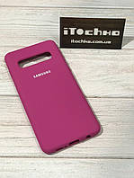 Чохол Silicone case для Samsung Galaxy S10 Cherry