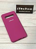 Чехол Silicone case для Samsung Galaxy S10 Cherry