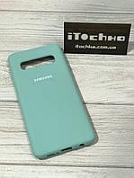 Чехол Silicone case для Samsung Galaxy S10 Mint