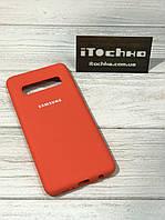 Чехол Silicone case для Samsung Galaxy S10 Orange
