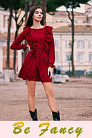Короткое платье с рюшами