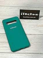 Чехол Silicone case для Samsung Galaxy S10 Spearmint