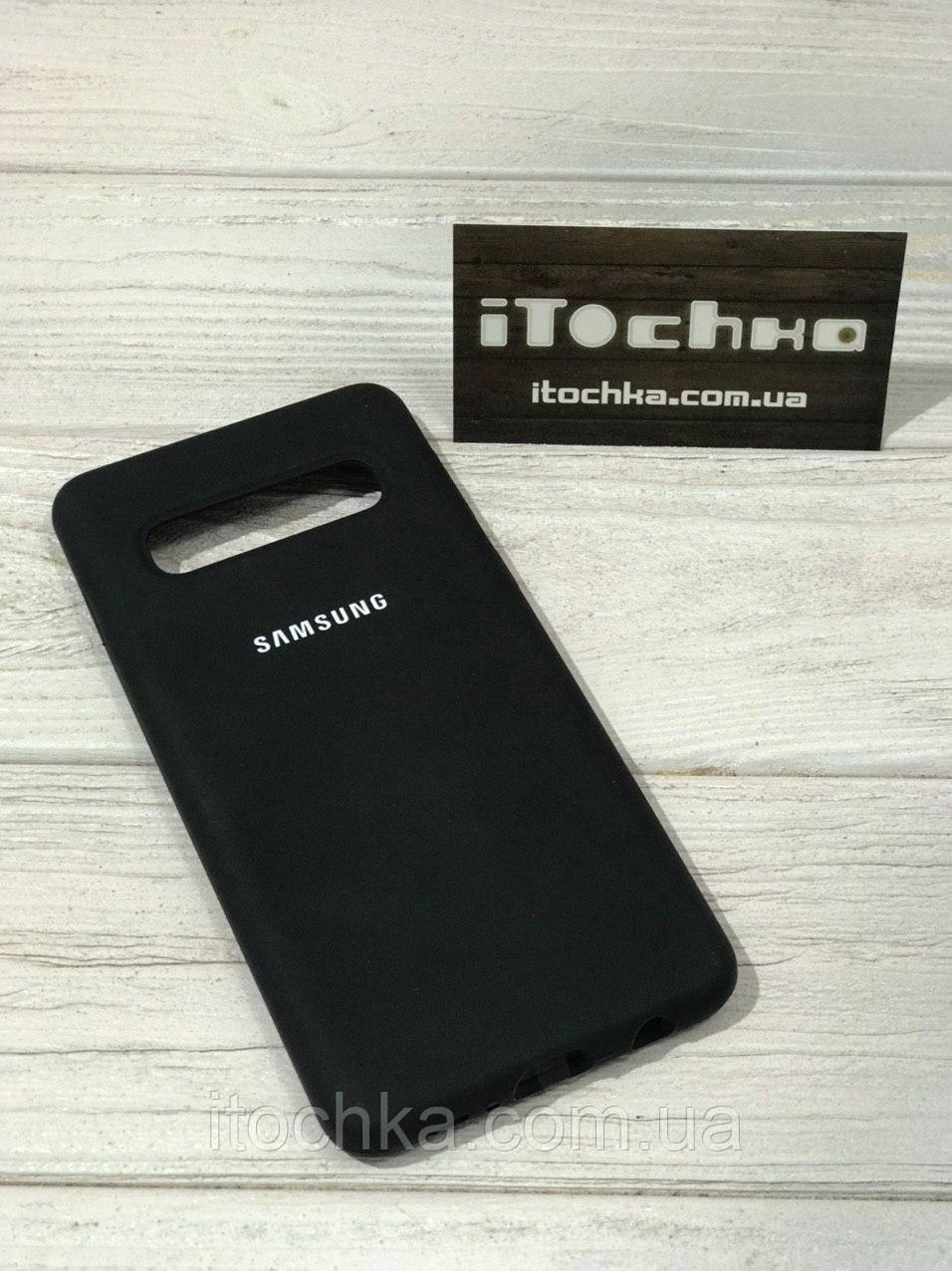 Чехол Silicone case для Samsung Galaxy S10 Black