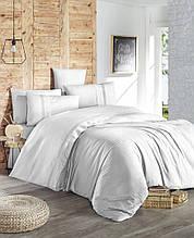 Комплект постільної білизни ранфорс de lux First Choice Gala Beyaz Полуторний
