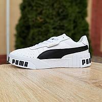 Кроссовки женские Puma Cali Bold белые с чёрным, фото 1