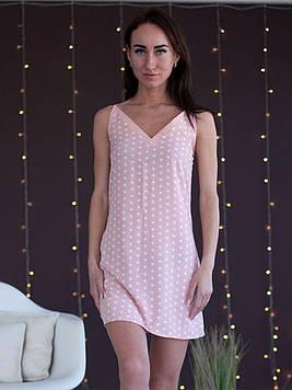 Жіноча нічна сорочка на бретелях