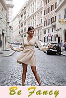 Невесомое бежевое платье