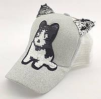 Детская бейсболка кепка с 50 по 54 размер детские бейсболки кепки летние для девочки с сеткой, фото 1