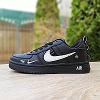 Кроссовки женские Nike Air Force 1 LV8  чёрные с белым, фото 1