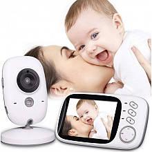 """Відеоняня для спостереження за дітьми Baby Monitor VB603 3.2"""" з датчиком звуку, нічний бачення + термометр"""