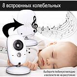 """Відеоняня для спостереження за дітьми Baby Monitor VB603 3.2"""" з датчиком звуку, нічний бачення + термометр, фото 4"""
