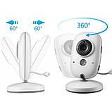 """Відеоняня для спостереження за дітьми Baby Monitor VB603 3.2"""" з датчиком звуку, нічний бачення + термометр, фото 5"""