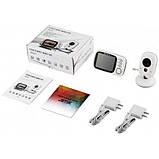 """Відеоняня для спостереження за дітьми Baby Monitor VB603 3.2"""" з датчиком звуку, нічний бачення + термометр, фото 7"""