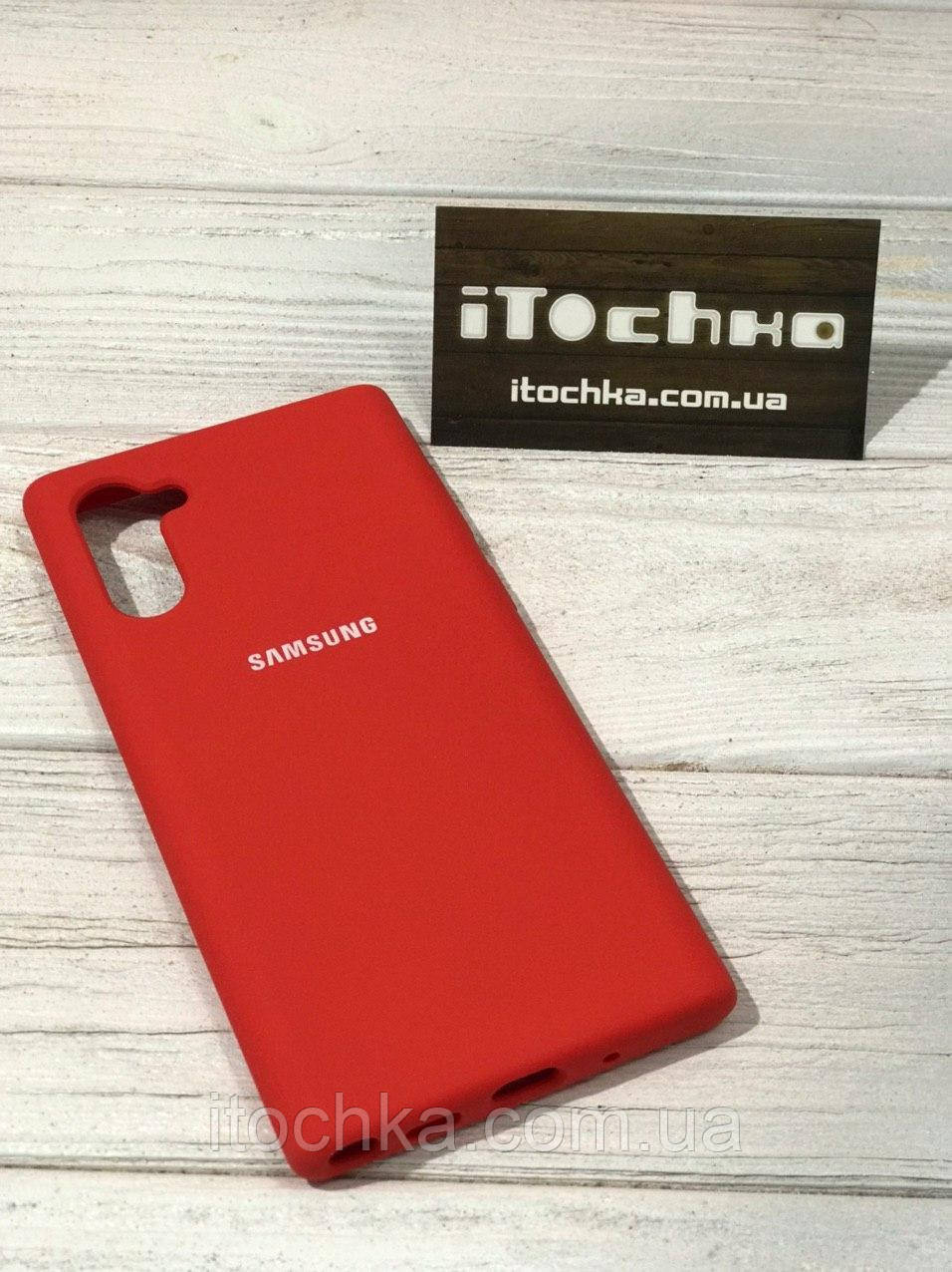 Чехол Silicone case для Samsung Galaxy Note 10 Red