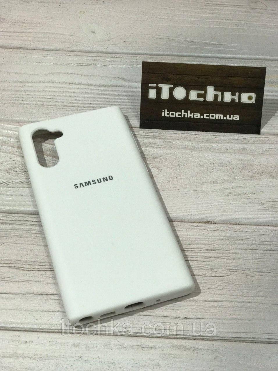 Чехол Silicone case для Samsung Galaxy Note 10 White
