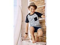 Стильная футболка  полоска с кармашком Pepperst 122\128 рост, фото 1