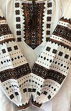 Жіноча сорочка із вишивкою у білому кольорі на довгий рукав «Зіронька»