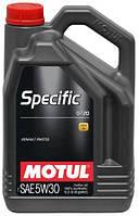 Моторное масло MOTUL  SPECIFIC 0720 5W-30  (5L) Масла оригинал, с защитным штрих кодом 4-208л уп.