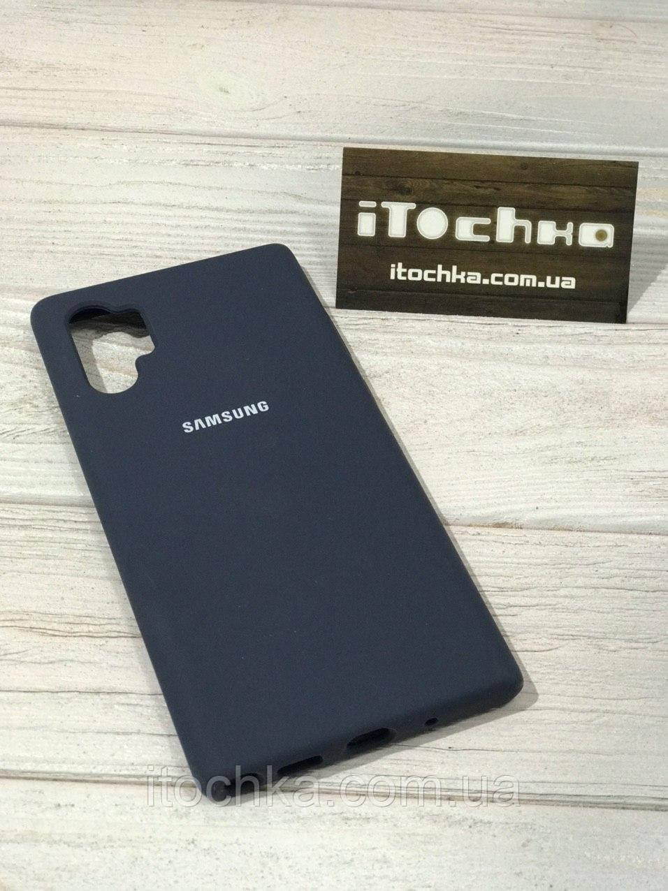 Чехол Silicone case для Samsung Galaxy Note 10 Plus Midnight Blue